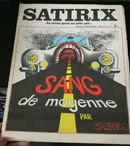 CARICATURE HUMOUR SATIRIX N°8 1972 SANG DE MOYENNE PAR SERRE