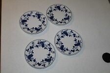 """FINE CHINA ROYAL MEISSEN  FROM JAPAN BREAD PLATE 6 5/8"""" SET OF 4 BLUE FLORAL"""
