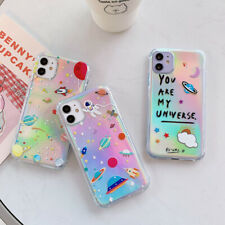 For iPhone 11 Pro Max X 7 8 Plus Planet Soft Transparent Cartoon NASA Case Cover