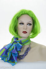 Fantasy Striking, Straight, Blunt Bob in Neon Colors Costume Wigs