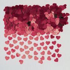 Burdeos DESTELLOS Corazón Amor Confeti San Valentín Mesa Fiesta Confeti