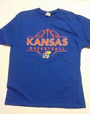 NEW Men's Jerzees Brand Official KU Kansas Jayhawks Blue T-Shirt, L, NWT