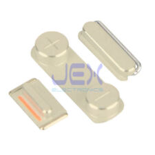 Gold Button Set For iPhone 5S/SE Volume, Silent/Mute Switch Power on/off OEM