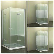 Eckdusche Duschkabine Falttür Pendel Dusche Duschabtrennung Glas Duschtasse Lahn