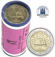 25 x Spanien 2 Euro Römische Verträge 2007 Münzen Rolle