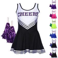 Damen-Komplett-Kostüme für S/M Cheerleader-Thema