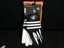ADIDAS YOUTH AXIS FOOTBALL RECEIVER GLOVES XL WHITE/BLACK AF0011 (NEW)
