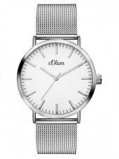 s.Oliver Damenuhr Uhr Unisex Edelstahl Milanaise Armbanduhr 38mm SO-3145-MQ