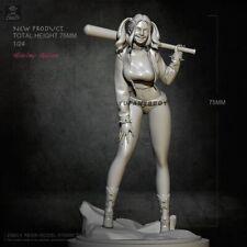 1:24 Resin Model Kits Harley Quinn Female Joker Figure Unassembled Unpainted NEW