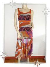 Vestido De fantasía Correas Naranja/Rosa Estampado Lewinger Talla 1 - 36