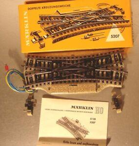 Märklin HO:  Antik 5207 elektr.Doppelkreuzweiche  OM 0862 von 1962   OVP Sammler