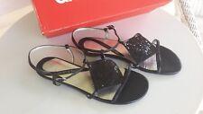 Diana Ferrari Ladies Black Sparkly Daytime / Evening Sandal flat heel  size 5.5
