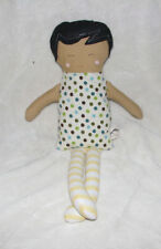 THREADED BASIL CLOTH BABY GIRL DOLL STUFFED SOFT TOY HANDMADE ARTIST ETSY