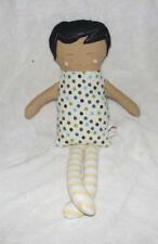 THREADED BASIL CLOTH BABY GIRL DOLL STUFFED SOFT TOY HANDMADE ARTIST ETSY