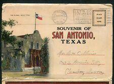 San Antonio Texas tx Alamo Plaza Mission Japanese Tea Garden postcard folder