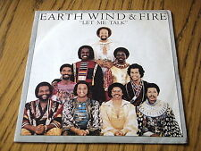 "EARTH, WIND & FIRE - LET ME TALK     7"" VINYL PS"