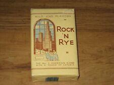 Vintage Rock 'N Rye Pipe Tobacco Package-Unopened With Tobacco Stamp