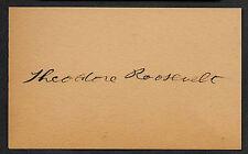 Theodore Teddy Roosevelt Autograph Reprint On Original 1905 3x5 Crd