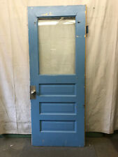 Single Tall Door Interior Glass Architectural Salvage Old School 36x90 C