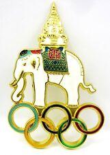 Thailand (NOC) National Olympic Committee Elephant Large Pin Enamel Beautiful
