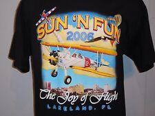 VINTAGE SUN N FUN FLY IN SSLEEVE T SHIRT XL THE JOY OF FLIGHT LAKELAND FLORIDA
