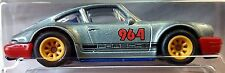Hot Wheels 2016 Car Culture Porsche 964 Gray Track Day Real Riders Racing 1:64