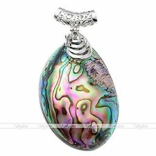 1pc Natural Abalone Mother Of Pearl MOP Shell Pendant Necklace Fashion Jewelry