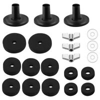 21pcs Drum Set Cymbal Parts Accessories - Sleeves, Felts, Wing Nuts, Washers Kit