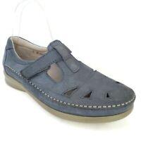 SAS Roamer Tripad Comfort Demin Leather Mary Jane Loafers Women's Size  8 M USA