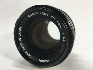 CANON FD 50mm f/1.4 S.S.C MF Lens FD_mount FROM JAPAN