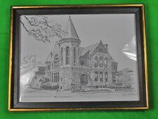 "Pencil Print "" Public Library "" by PAUL N. NORTON Framed Art"