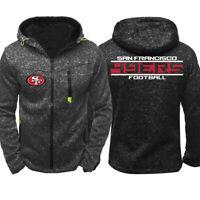 Football Team San Francisco 49ers Fan Hoodie Zip Up coat Classic Sweatshirt Gift