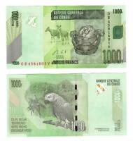 CONGO (DRC) UNC 1000 Francs Banknote (2013) P-101b Paper Money