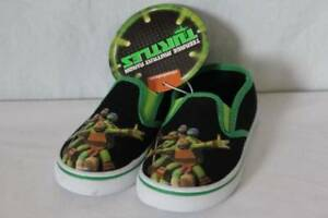 NEW Toddler Boys Loafers TMNT Small 5 - 6 Mutant Ninja Turtles Canvas Shoes