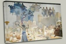 Alphonse Mucha Epopéia Eslava - Ciclo III , Canvas Wall Art Picture Print