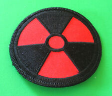 BRAND NEW RADIATION SIGN (RED) BIKER IRON ON PATCH