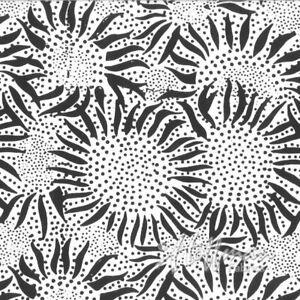 Hoffman Batik Bali Chops Sunflower 884-655-Chalk Batik Cotton Fabric