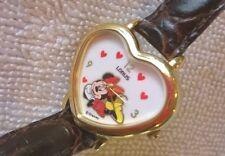 Unique Heart-Shaped Ladies Lorus Quartz Minnie Mouse Watch, by Disney