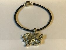 Welsh Dragon TG244 Made From English Pewter on a Faux Leather Snake Bracelet