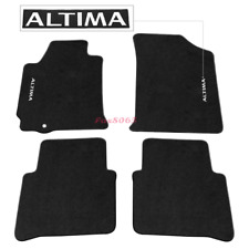 Fits 07-12 Nissan Altima 4DR Black Nylon Floor Mats Carpets w/ Altima Embroidery