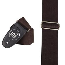 Dark Brown Classic Jazz Folk Deluxe Acoustic Electric Bass Guitar Strap