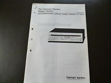 Service MANUAL Harman Kardon Model CD 291