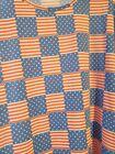 Lularoe Medium Irma New Shirt Stars Stripes Flag July 4th Patriotic America