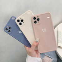 For iPhone 12 11 Pro Max XS Max XR 7 8 Plus Shockproof Heart Silicone Case Cover