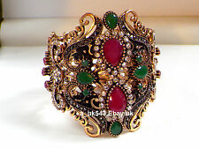 Bollywood Wedding Jewellery,Cuff Bangle,Wrist Band,Polki Kada,Ruby Bracelet