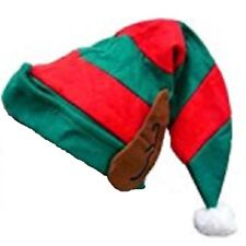 Adult Elf Hat with Ears, Christmas Fancy Dress, Panto, Parties, Xmas Hats 11706