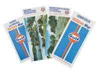 Gulf Gas Station Vintage NOS New Old Stock Tourgide Travel Road Maps - Set of 4