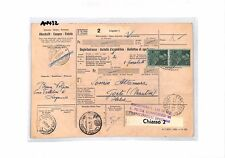 AN432 1954 SWITZERLAND Lugano PARCEL POST RECEIPT to ITALY