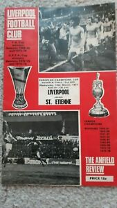 Liverpool FC LFC v St Etienne match football programme 1977 European cup game