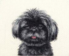 BLACK SHIH TZU puppy, dog Full cross stitch kit, all materials *Fido Studio